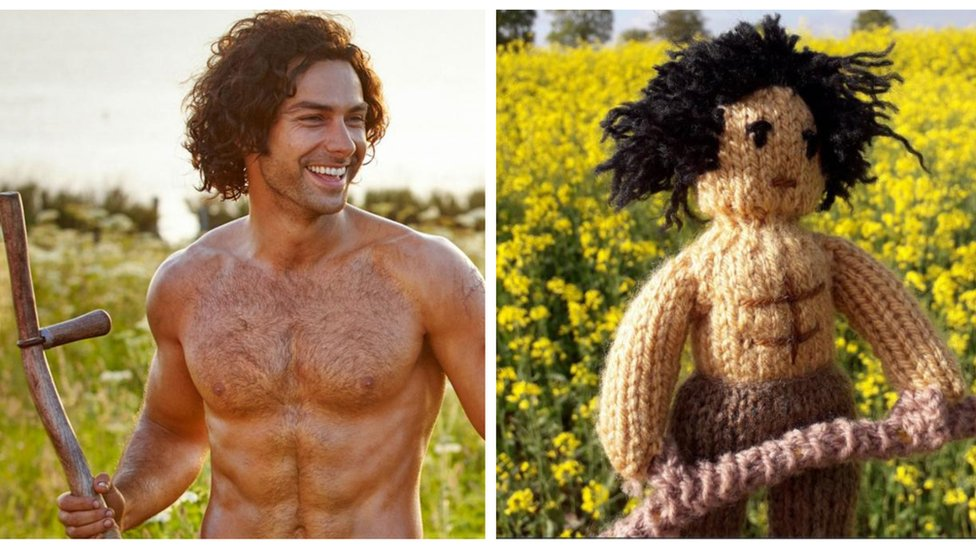 Poldark knitted figures 'go global'