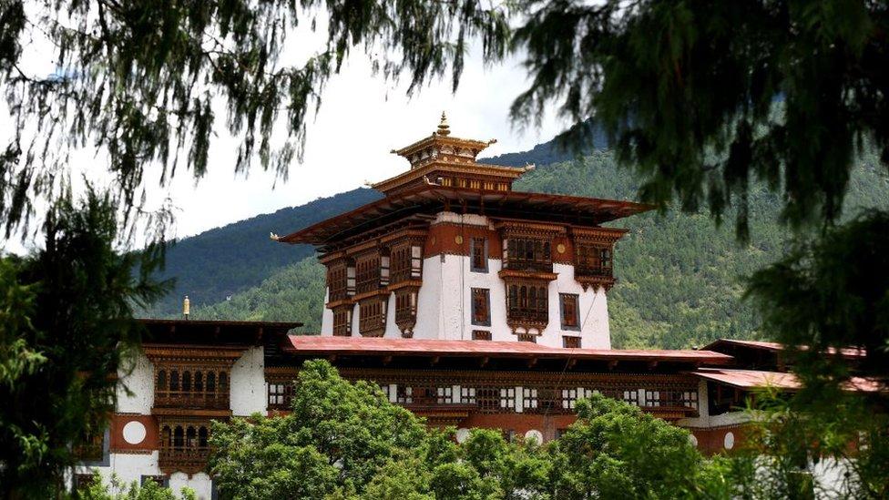 Templo en Bután.