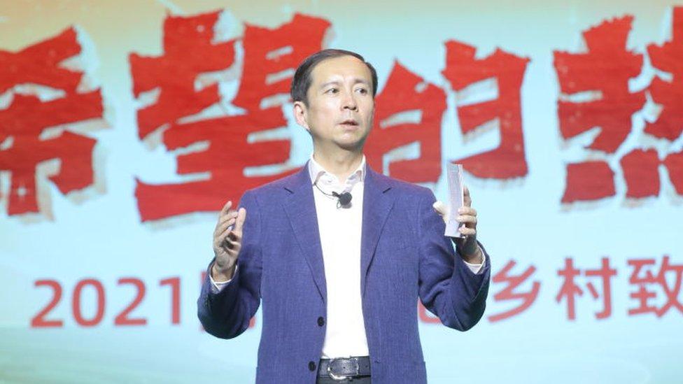 Daniel Zhang, en un acto en Lanzhou, en la provincia de Gansu.