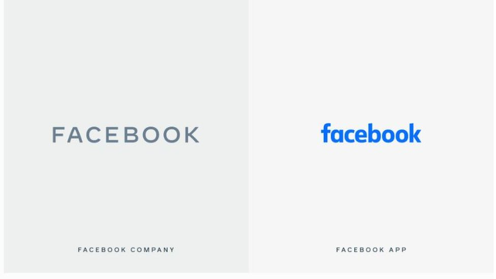 Facebook new and old logos