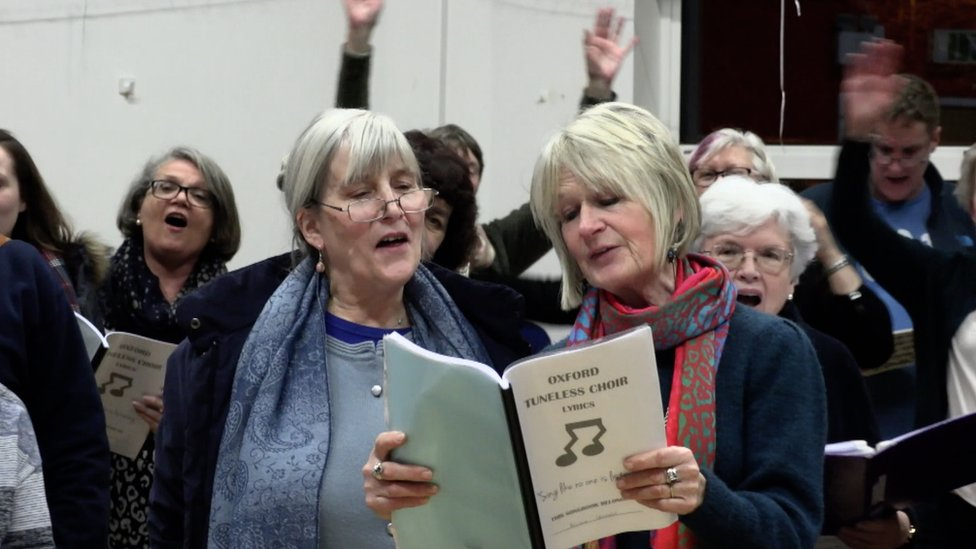 Oxford Tuneless Choir: 'Singing like no-one's listening'