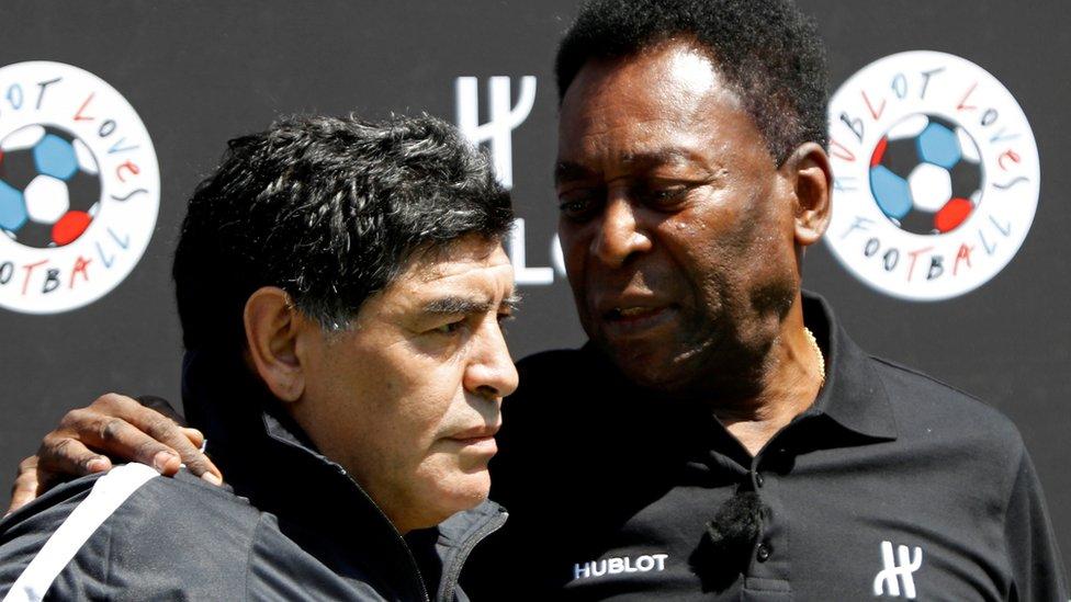 Maradona con Pelé