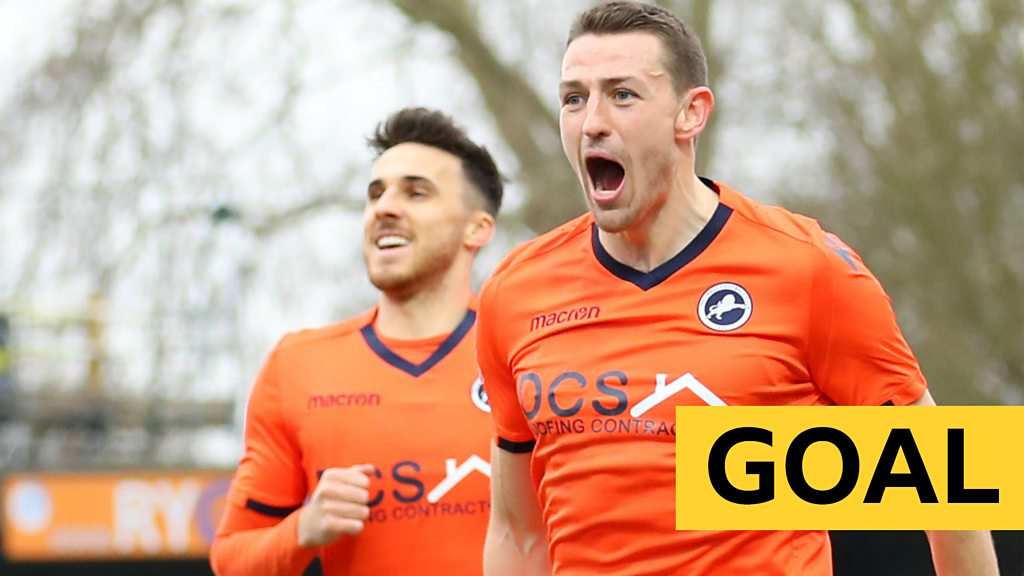 FA Cup: Murray Wallace gives Millwall the lead against Wimbledon
