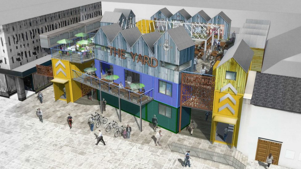 Reading shipping container urban market turned down over crime fears