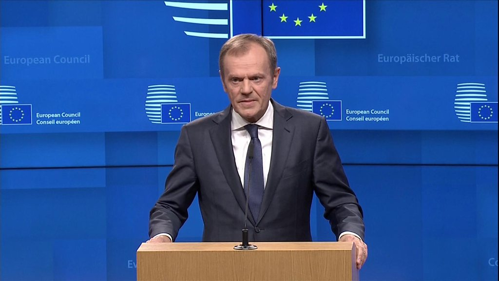 Tusk: Delay conditional on positive Brexit vote