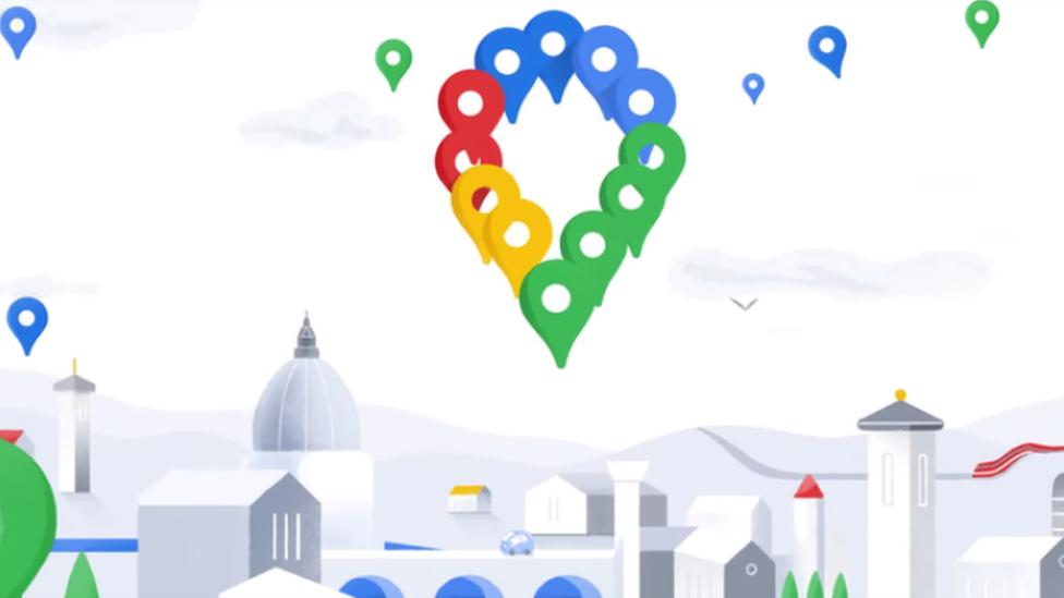 Nuevo ícono de Google Maps.