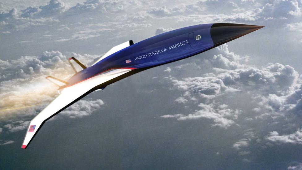 ภาพวาดเครื่องบินไฮเปอร์โซนิกของบริษักทเฮอร์เมียส