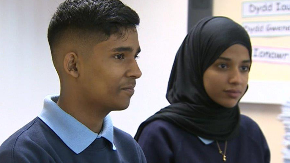 Azeem and Shutha from Cathays High School have contributed to the videos