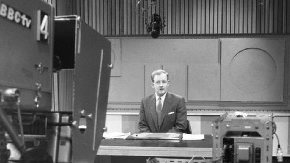 Bough presenting Sportsview in 1963