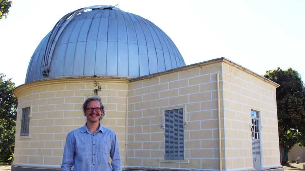 Astrónomo brasileño Diogo Souto
