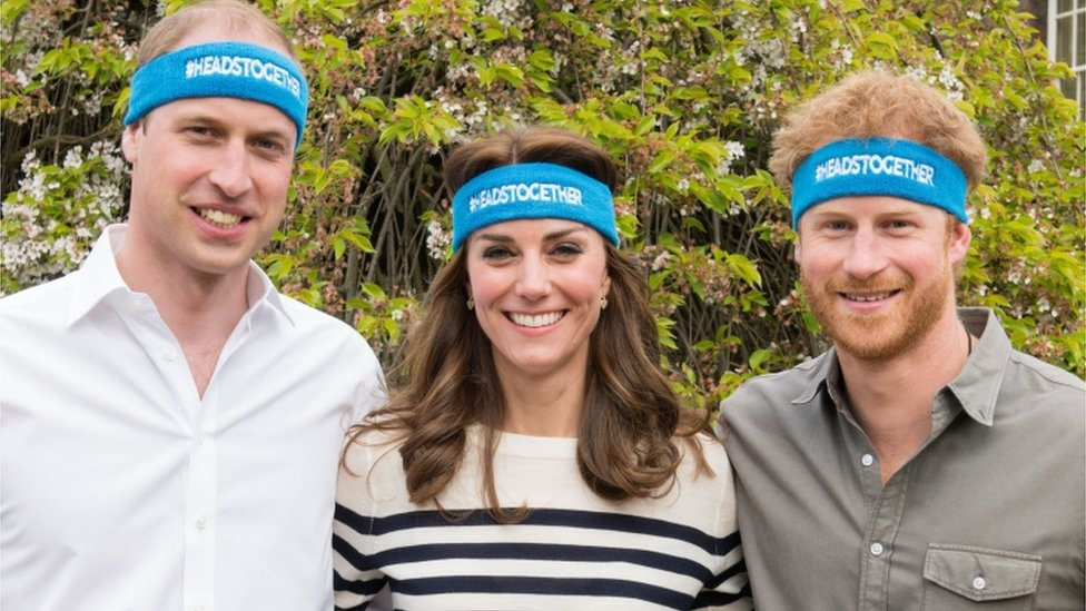 William, Kate y Harry.