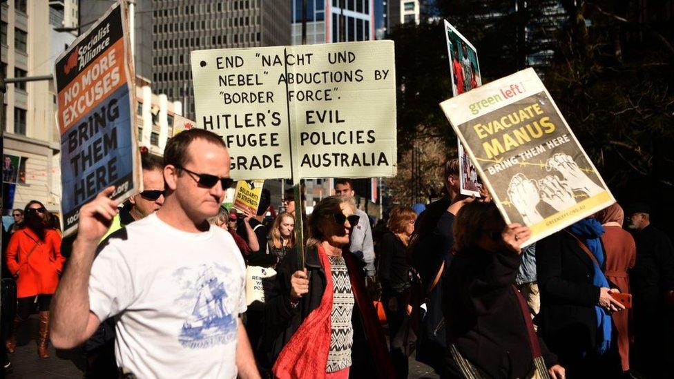 Protesta en Australia.