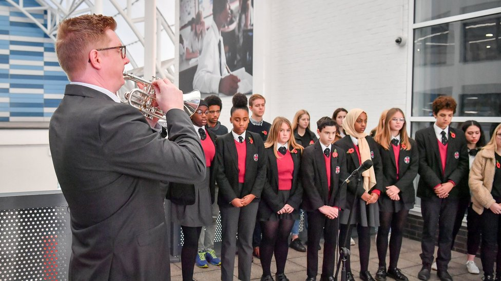 Music teacher John Hare at St Mary Redcliffe and Temple School, Bristol