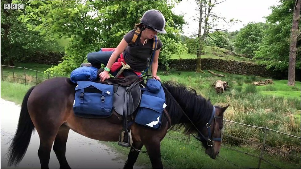 Woman, pony and dog spend a month touring Lake District