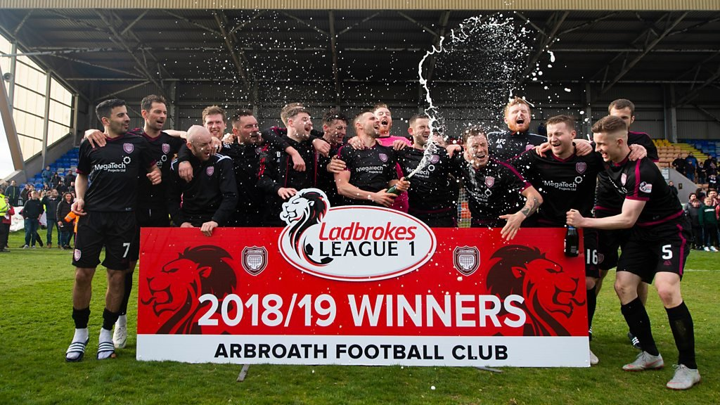 Watch the celebrations as Arbroath clinch League One title