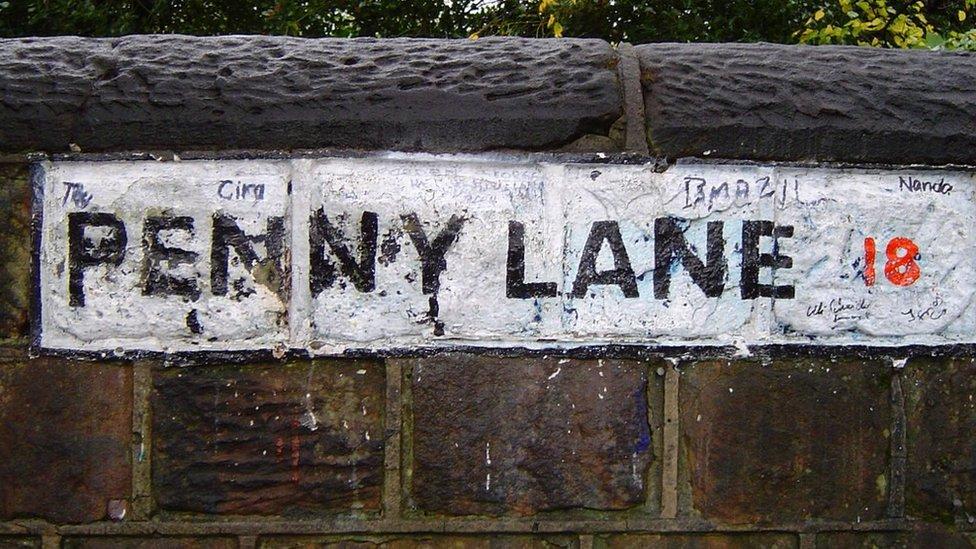 Penny Lane sign