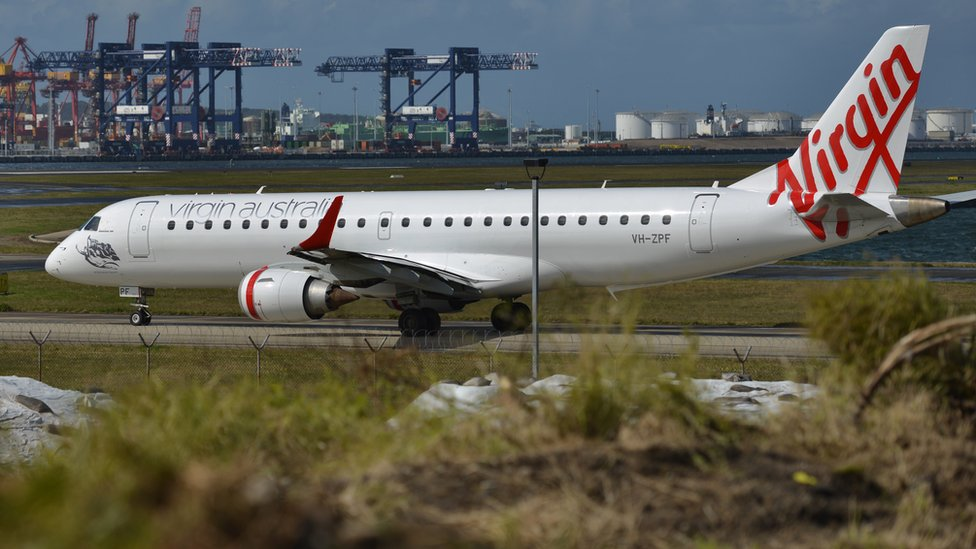 Avión de Virgin Australia