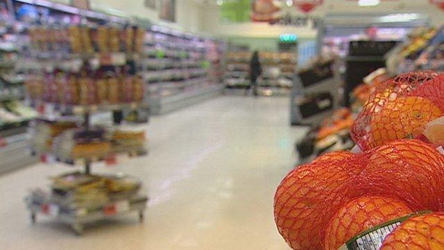 Oranges in a supermarket