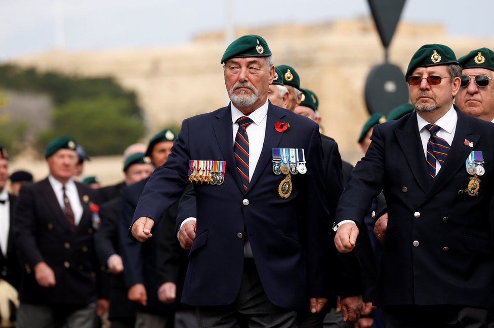 British Royal Marine commando veterans