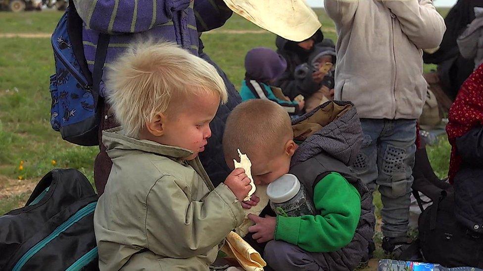 Niños en el campamento de refugiados