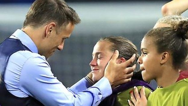 Women's World Cup: England boss Phil Neville proud after emotional win over Argentina