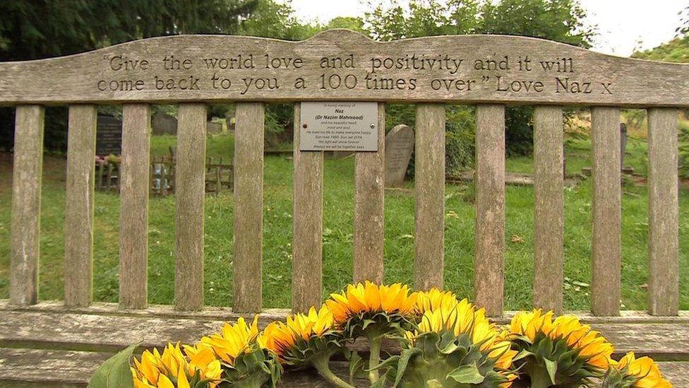 Naz's memorial bench