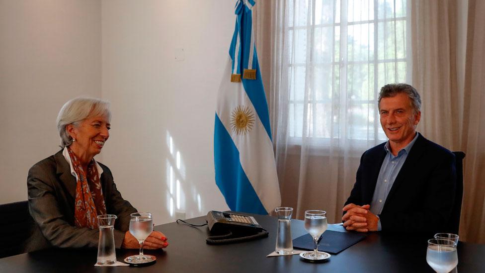 Christine Lagarde y Mauricio Macri en 2018