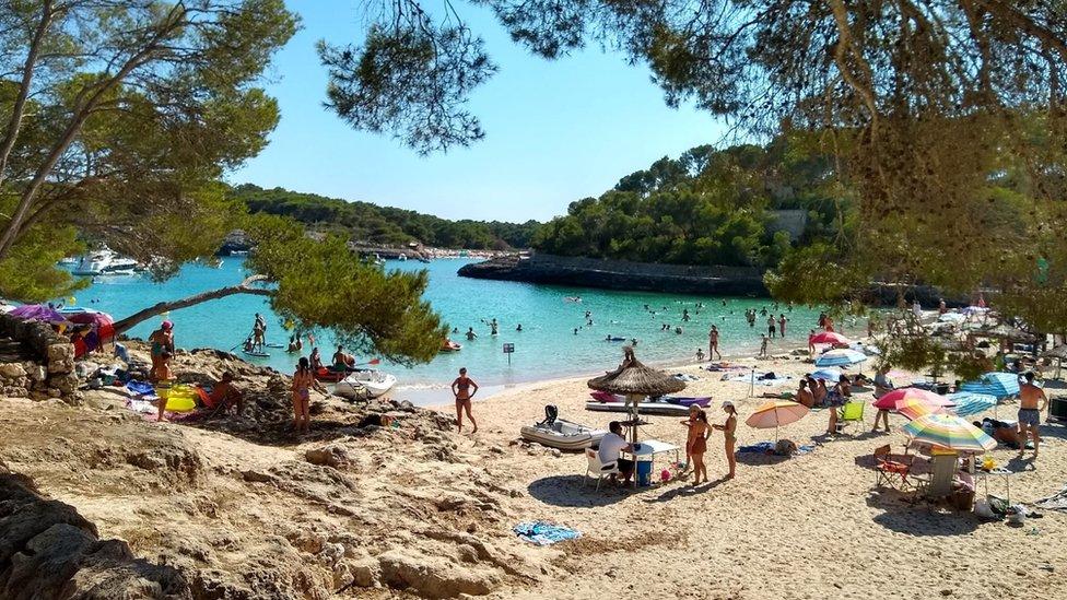 Cala Mondragó, en el sur de Mallorca.