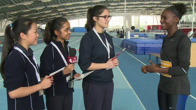 Dina Asher Smith and School Reporters