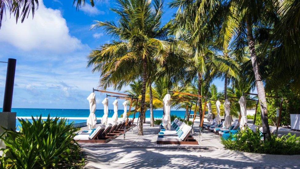 Hotel en la playa