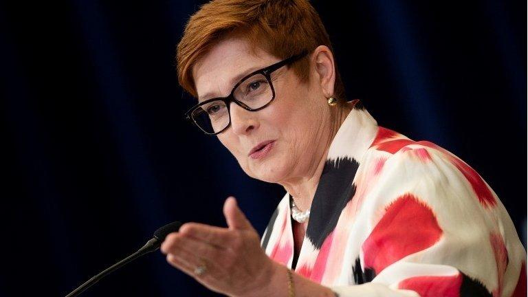 Australia's Foreign Minister Marise Payne