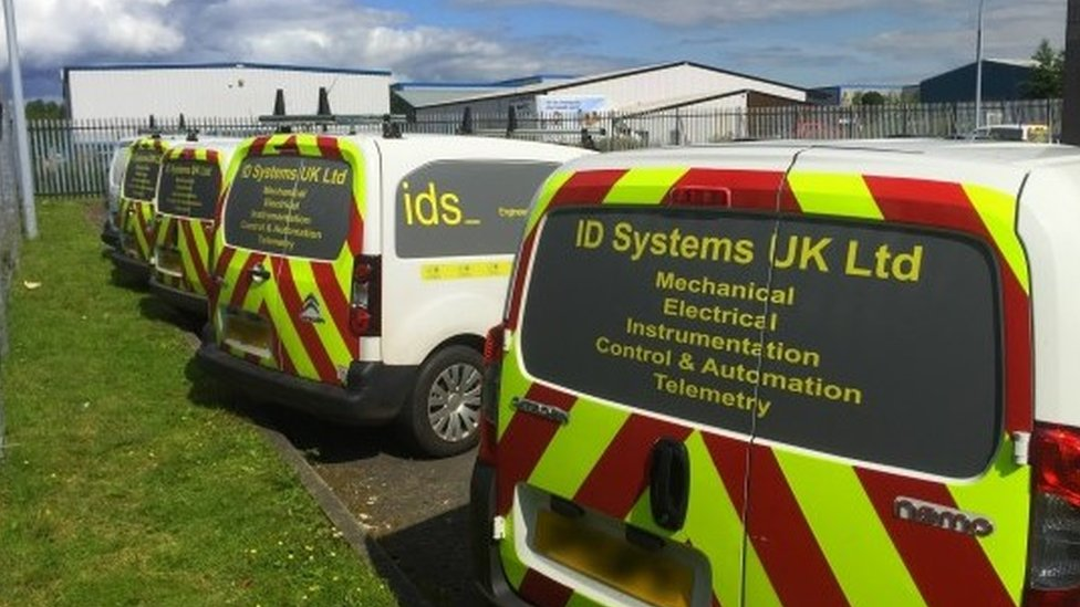 ID Systems UK vans
