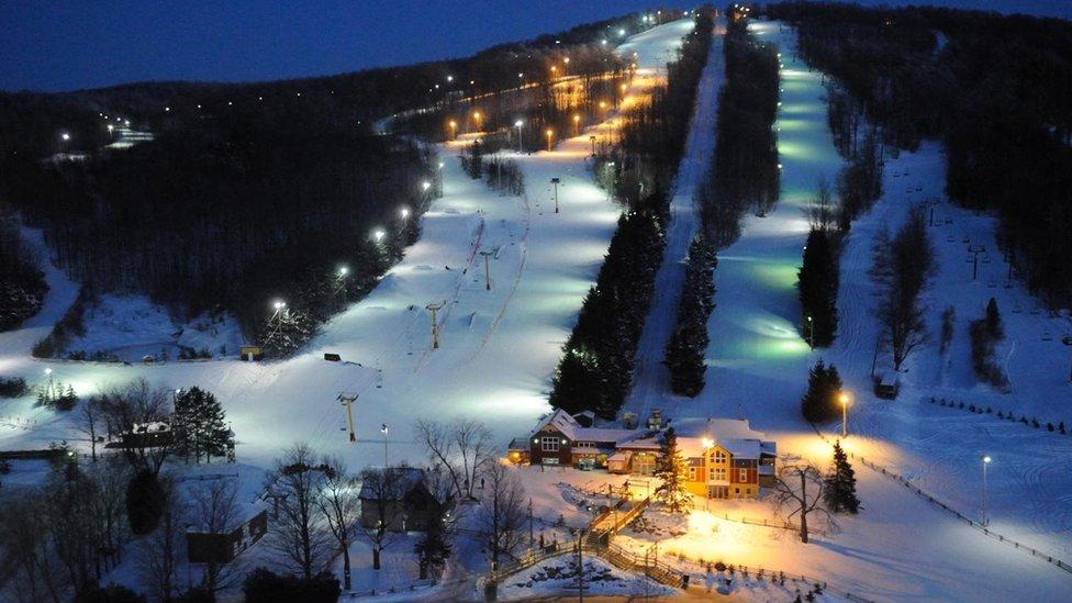 Una pista de esquí de Mont Gleason
