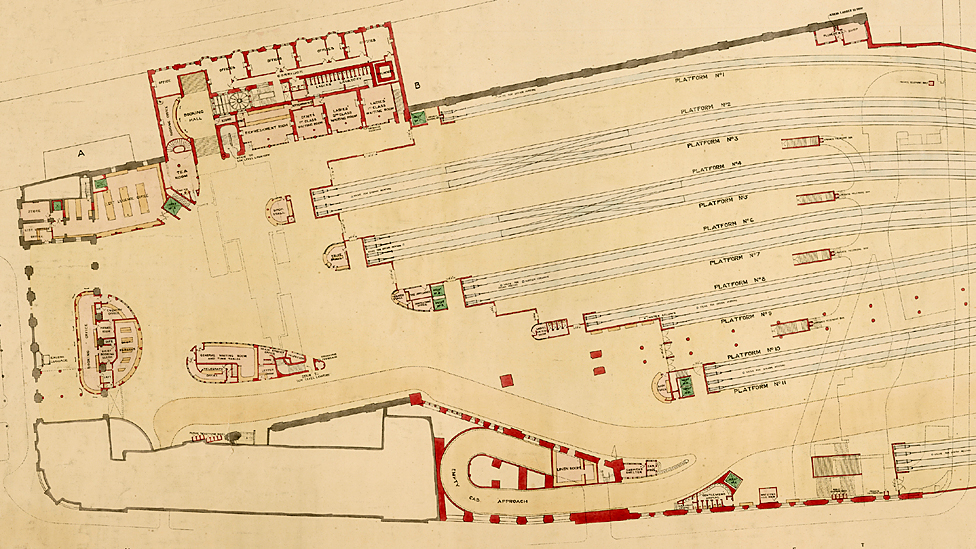Plans for Caledonian Railway Glasgow, Central Extension, circa 1900