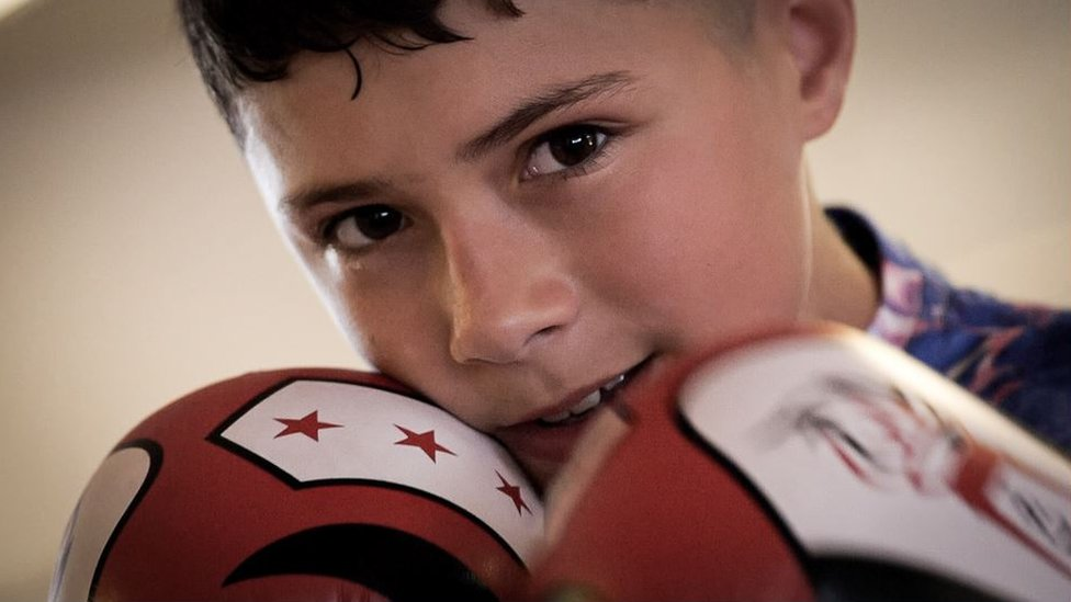 Jamie says boxing helps control his anger - a big part of his ADHD