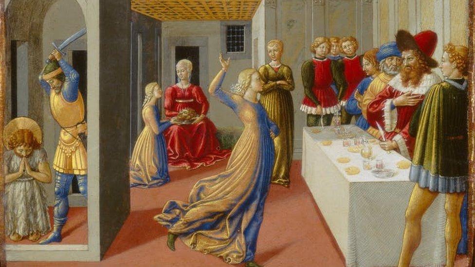 A dança de Salomé, de Benozzo Gozzoli
