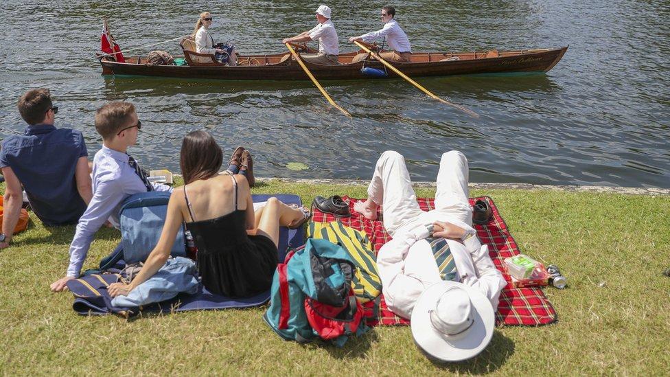 Spectators at regatta