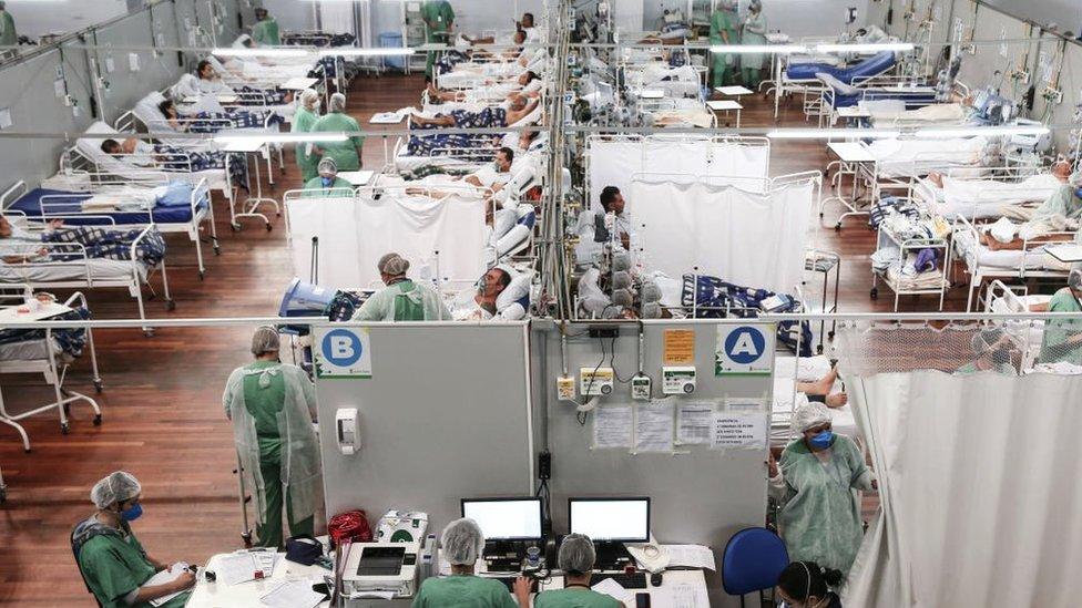 El complejo hospitalario Pedro DellAntonia donde se tratan a los pacientes de covid-19, 11 de marzo de 2021
