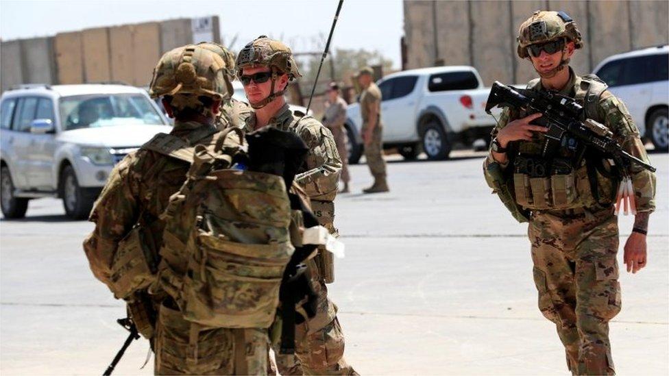 Soldados de EE.UU. en Irak.