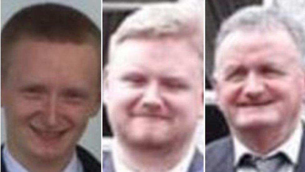 Diarmuid O'Sullivan, 22, Mark O'Sullivan, 25, and their father Tadgh O'Sullivan, 59, died in the incident