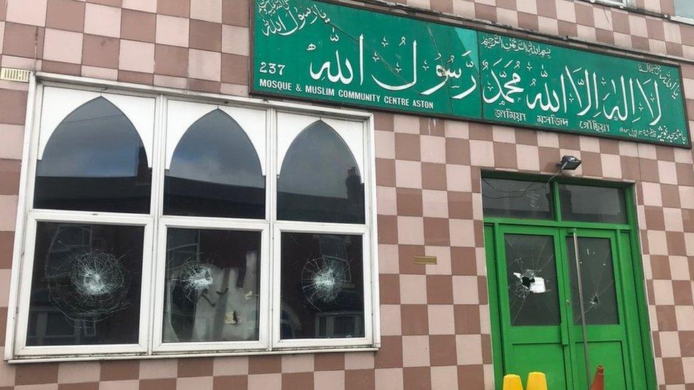Two men arrested over Birmingham mosque hammer attacks
