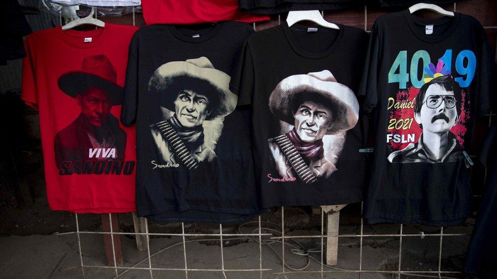 Camisetas alusivas al 40 aniversario de la revolución nicaragüense