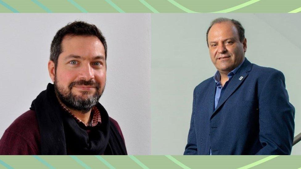 Omar Azzaroni y Guillermo Docena