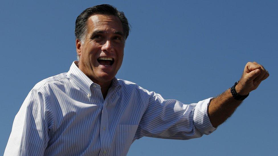 Republican presidential nominee Mitt Romney in Abingdon, Virginia, in October 2012