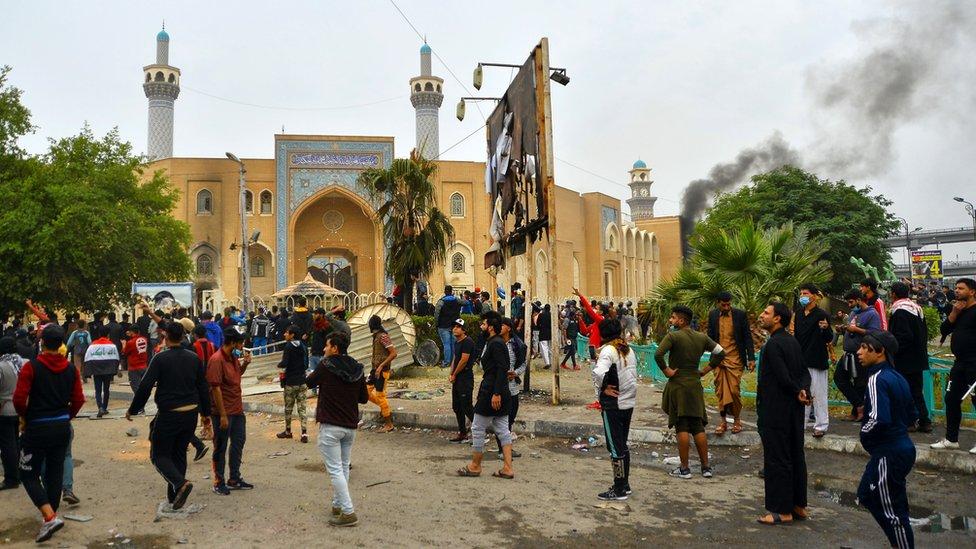 Protestas en Najaf, Irak