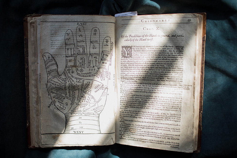 A 16th century book on palm reading at Innerpeffray Library