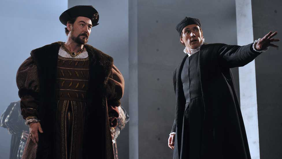 Nathaniel Parker and Ben Miles in the Royal Shakespeare Company's staging of Wolf Hall