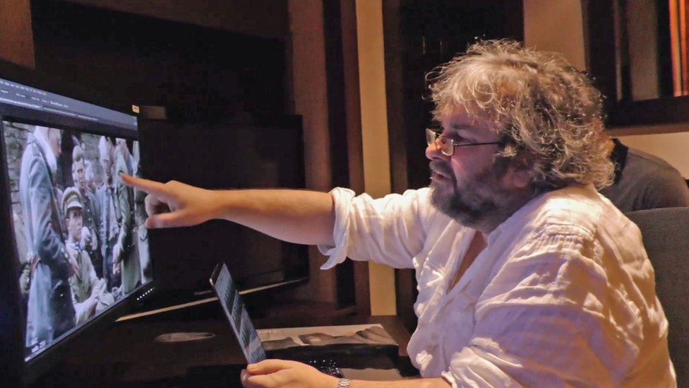 Sir Peter Jackson working on his film They Shall Not Grow Old