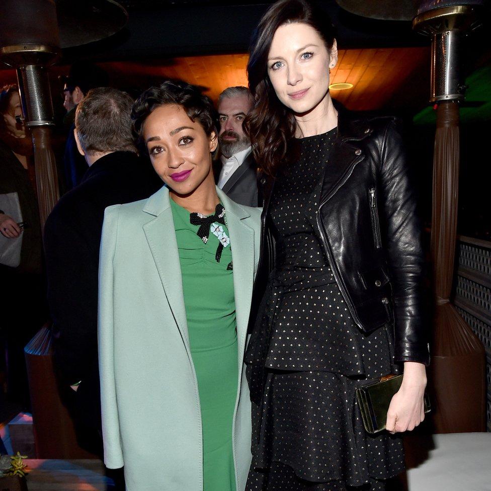 Ruth Negga and Caitriona Balfe at the Oscar Wildes