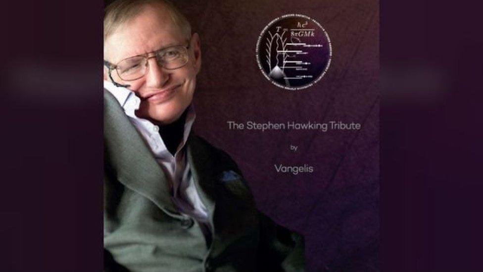 CD con las palabas del físico acompañadas de la música de Vangelis.